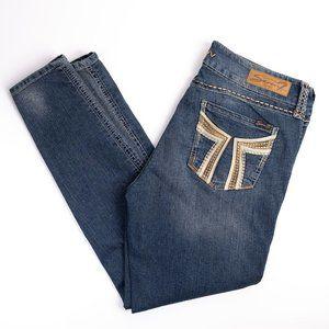 "7Seven blue skinny jeans ""legging"" size 14"